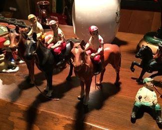 Horse and Jockey - cast iron