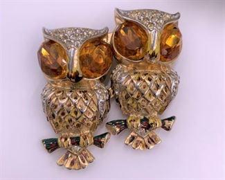 Vintage Coro owl pin