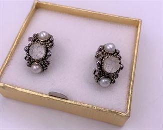 Designer sterling silver earrings
