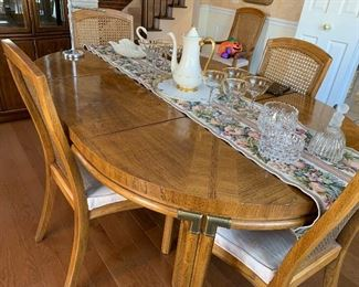 Dining room table and chairs - nice size in excellent condition and very attractive