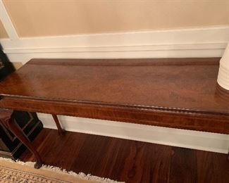 Console table opens to full size.