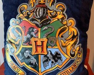 Hogwarts pillow.
