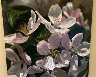 Another stunning Michael Gerry floral oil on canvas.