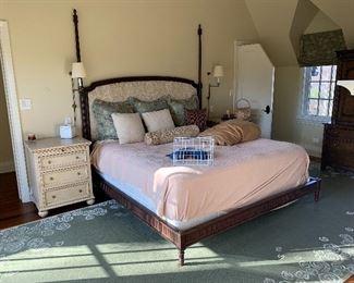 Lewis Mittman bed and beautiful custom carpet.