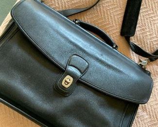 Coach leather briefcase bag