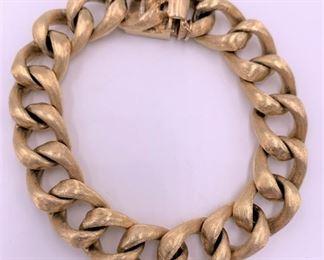 Solid 14K gold men's or ladies bracelet