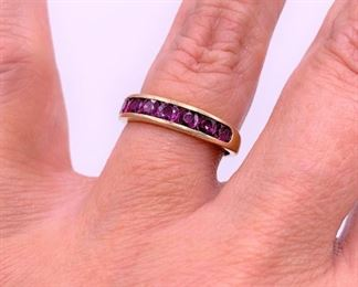 Ruby and gold band