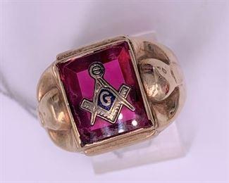 Mason's vintage gold ring.
