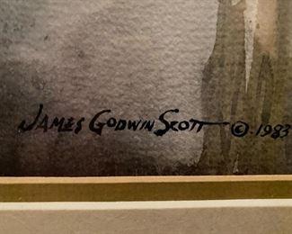 WATERCOLOR ON PAPER BY JAMES GODWIN SCOTT DEPICTING A SOUTHWEST SCENE