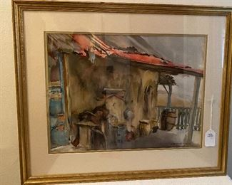 SEVERAL OILS, WATERCOLORS AND PRINTS