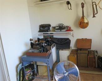 Vintage musical instruments.