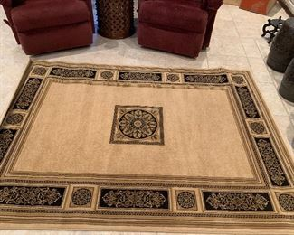 5x7  black and tan area rug never been used. $100