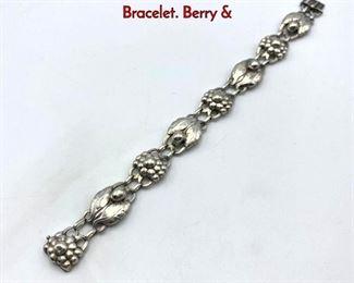 Lot 3 GEORG JENSEN 3 Sterling Silver Link Bracelet. Berry