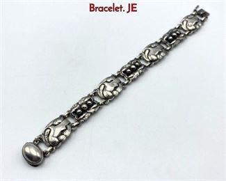 Lot 4 GEORG JENSEN 24 Sterling Silver Bird Link Bracelet. JE