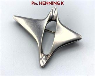 Lot 17 GEORG JENSEN 339 Sterling Silver Brooch Pin. HENNING K