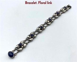 Lot 20 GEORG JENSEN 13 .830 Silver Link Bracelet. Floral link