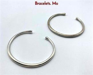 Lot 24 Pr GEORG JENSEN 150 Sterling Silver Cuff Bracelets. Mo