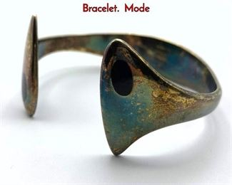 Lot 26 HANS HANSEN  213E Sterling Silver Cuff Bracelet. Mode
