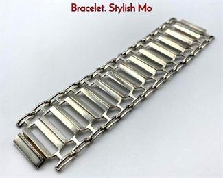 Lot 28 TONE VIGELAND Sterling Silver Link Bracelet. Stylish Mo