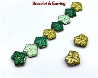 Lot 30 JAKUB TOSTRUP Norway Sterling Enamel Bracelet  Earring
