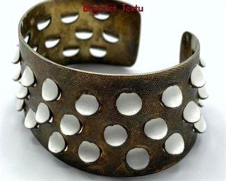 Lot 34 JAKUB TOSTRUP Sterling Norway Modernist Bracelet. Textu