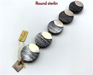 Lot 36 MOLTKE Sterling Silver Bracelet. Denmark. Round sterlin