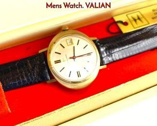Lot 105 HAMILTON 14K Gold Self Wind Calendar Mens Watch. VALIAN