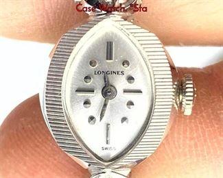 Lot 112 Vintage Ladies LONGINES 14K White Gold Case Watch
