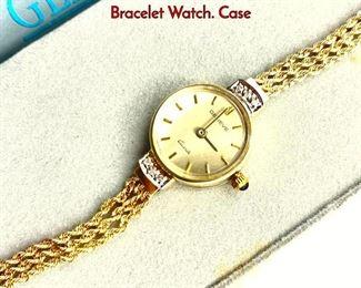 Lot 114 14K Gold Ladies Vintage INTERCHRON Bracelet Watch. Case