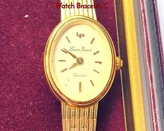 Lot 116 Vintage Ladies 14K Gold LUCIEN PICARD Watch Bracelet. C