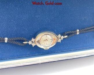 Lot 117 HAMILTON 14K White Gold Vintage Ladies Watch. Gold case