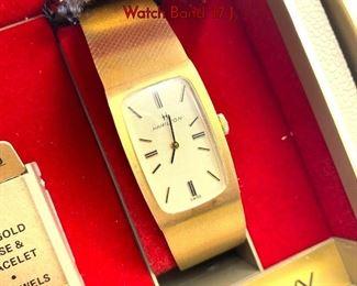 Lot 119 Vintage Mens 14K Gold HAMILTON Vintage Watch Band. 17 J