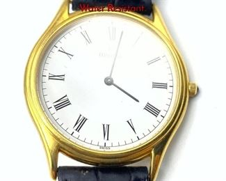 Lot 120 Vintage 18K Gold CONCORD Mens Watch. Water Resistant.