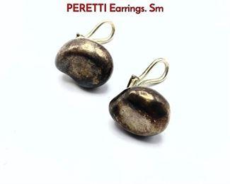 Lot 132 Pr Sterling Silver TIFFANY by ELSA PERETTI Earrings. Sm