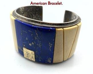 Lot 138 Sterling Silver Laloma style Native American Bracelet.