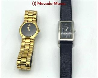 Lot 145 2 Ladies Wrist Watches. MOVADO. GRUEN. 1 Movado Museu