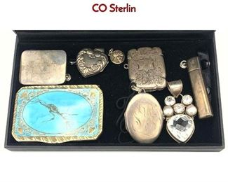 Lot 156 8pc Silver or Sterling Object Lot. TIFFANY  CO Sterlin