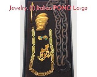 Lot 170 8 Pc Designer Modernist Jewelry. 1 Italian PONO Large