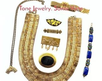 Lot 175 8pc Vintage Gold Fill and Gold Tone Jewelry. Some Victo