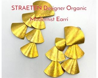 Lot 191 HERVE VAN DER STRAETEN Designer Organic Modernist Earri