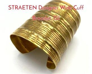 Lot 193 HERVE VAN DER STRAETEN Designer Wide Cuff Bracelet. Gil