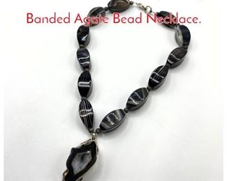 Lot 197 Charles Albert style Large Banded Agate Bead Necklace.
