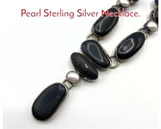 Lot 199 The DREAMER River Rock, Pearl Sterling Silver Necklace.
