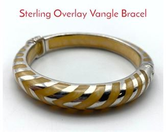 Lot 205 ANGELIQUE de PARIS Resin Sterling Overlay Vangle Bracel