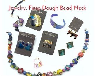 Lot 207 13pc Contemporary Costume Jewelry. Fimo Dough Bead Neck