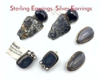 Lot 213 6pc AMY KAHN RUSSELL Sterling Earrings. Silver Earrings