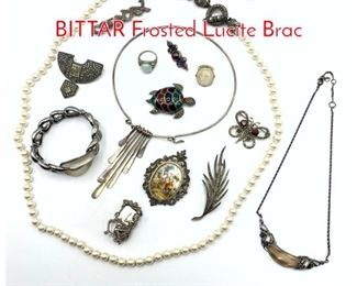 Lot 221 14pc Jewelry Lot. 2pc ALEXIS BITTAR Frosted Lucite Brac