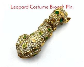 Lot 231 KJL Kenneth J Lane Figural Leopard Costume Brooch Pin.