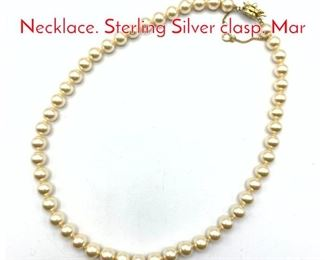 Lot 232 MAJORCA Faux Pearl Necklace. Sterling Silver clasp. Mar