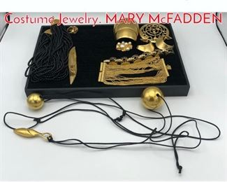 Lot 236 13 Pc Gold tone Designer Costume Jewelry. MARY McFADDEN